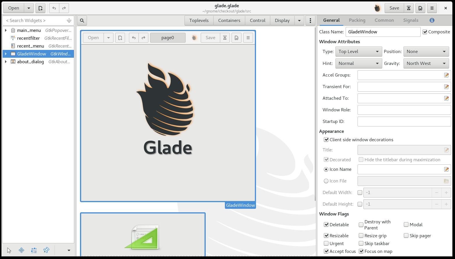 Integration of Glade and GTK